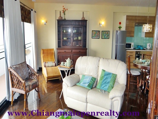 [CR061] One bedroom with Ping River view for rent/sale @ Riverside Condo. **RENTED to 31 Aug. 2018**